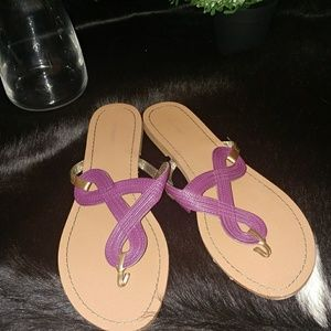 {Old navy} purple & gold flat sandals